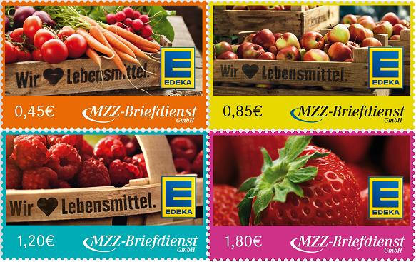 EDEKA-MZZ-Briefmarken am 21.5.2013 Satz